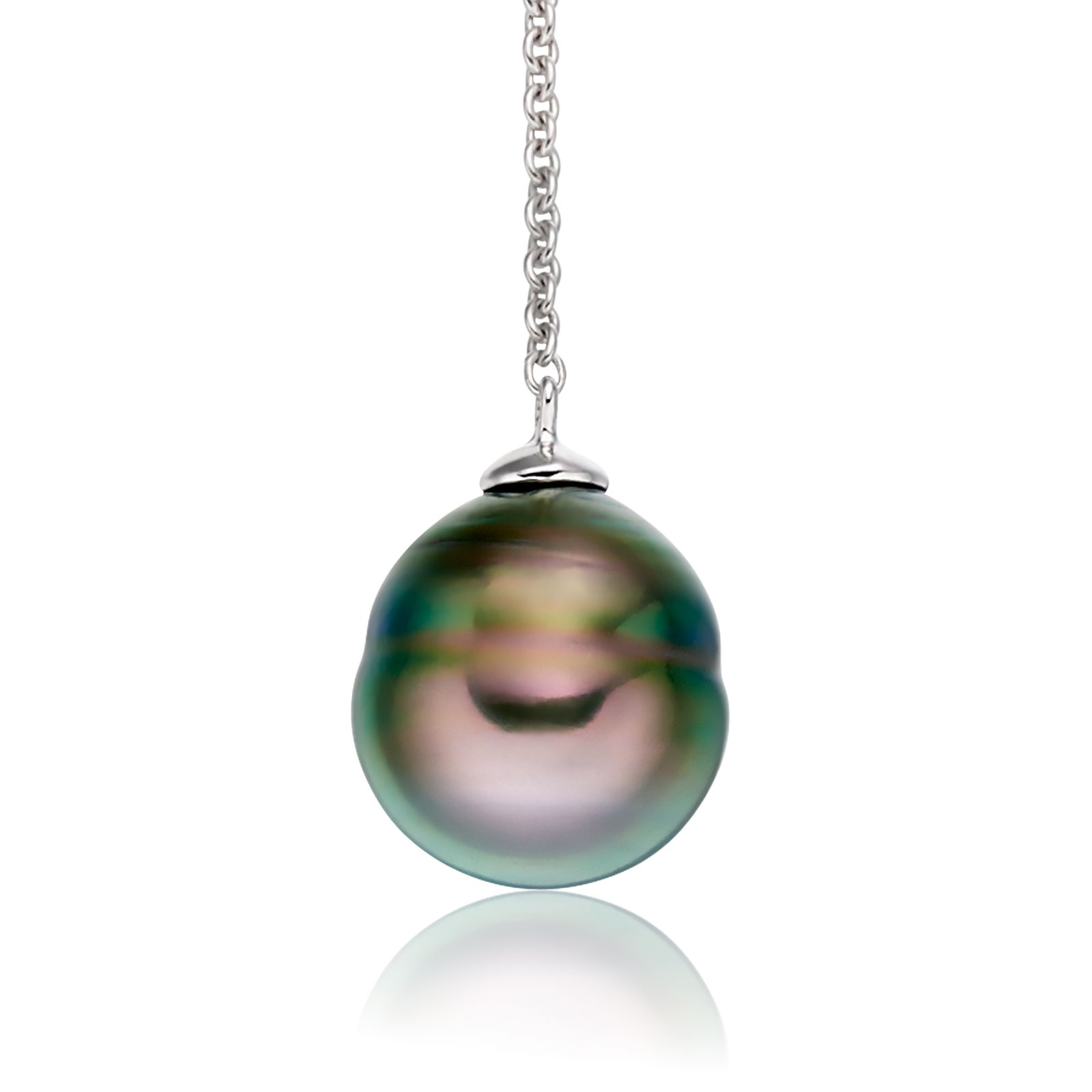 Baroque Tahitian Pearl Lariat in White Gold-TPPBWG0772-1