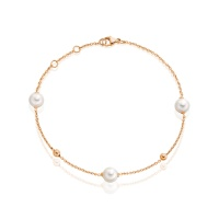 Akoya Pearl Constellation Bracelet in Rose Gold