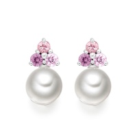 Astral Dawn Studs in White Gold with Akoya Pearls