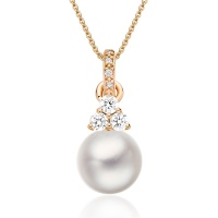 Astral Cluster Akoya Pearl Pendant in Rose Gold