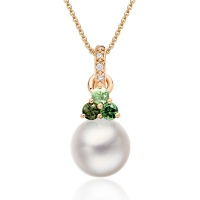 Astral Aurora Akoya Pearl Pendant in Rose Gold