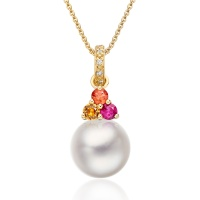Astral Blaze Akoya Pearl Pendant in Yellow Gold
