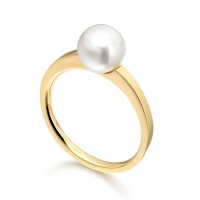18 carat Yellow Gold Akoya Pearl Ring
