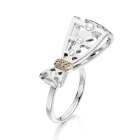 Beau Seed Pearl and Diamond Ring in White Gold