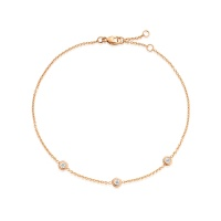 Classic Solitaire Diamond Bracelet in Rose Gold