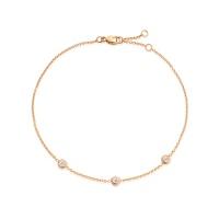 Classic Solitaire Diamond Bracelet in Rose Gold