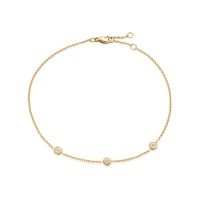 Classic Solitaire Diamond Bracelet in Yellow Gold
