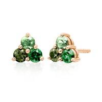 Astral Aurora Stud Earrings in Rose Gold