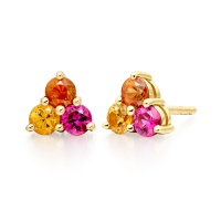 Astral Blaze Stud Earrings in Yellow Gold