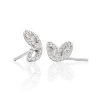 Enchanted Diamond Stud Earrings in White Gold
