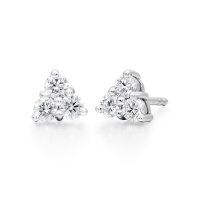 Astral Cluster Stud Earrings in White Gold