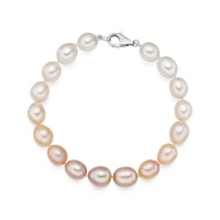 Blush Sunrise Pearl Bracelet in White Gold