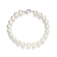 The Classic White Freshwater Pearl Bracelet with 18ct Gold Clasp