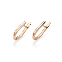 Rose Gold Huggie Leverback Earrings