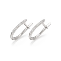 18 carat White Gold Diamond Leverback Earrings