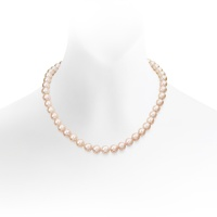 Pink Freshwater Pearl Necklace in Gold