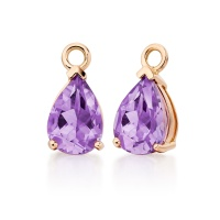 Mythologie Amethyst Leverback Drops in Rose Gold