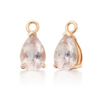 Mythologie Rose Quartz Leverback Drops in Rose Gold