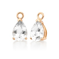 Mythologie White Topaz Leverback Drops in Rose Gold