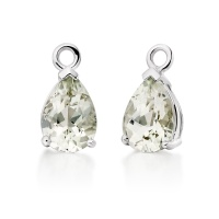 Mythologie Green Amethyst Leverback Drops in White Gold