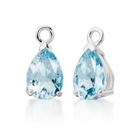 Mythologie Aquamarine Leverback Drops in White Gold