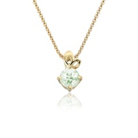 Lief Green Beryl Pendant in Yellow Gold