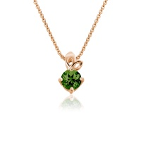Lief Green Tourmaline Pendant in Rose Gold
