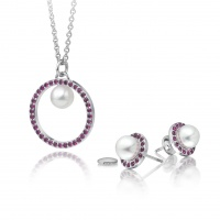 Sophie Breitmeyer Ruby and Akoya Pearl Set