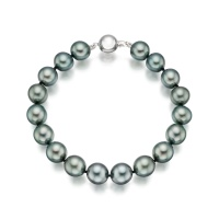 Tahitian Grey Pearl Bracelet with 18ct White Gold Ball Clasp