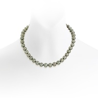 Grey Tahitian Pearl Necklace in White Gold