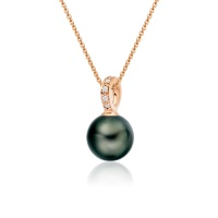 Mythologie Tahitian Pearl and Diamond Pendant in Rose Gold