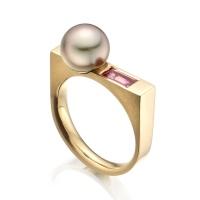Luna Rose Tahitian Pearl and Sapphire Ring