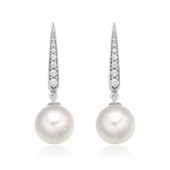 Mythologie Dewdrop Akoya Pearl Earrings in White Gold-AEWRWG1213-2