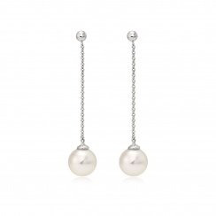 Akoya Pearl Constellation Earrings in White Gold-AEWRWG1221-2