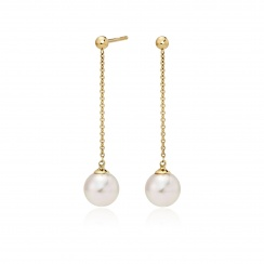 Akoya Pearl Constellation Earrings in Yellow Gold-AEWRYG1222-1