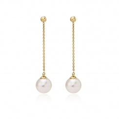 Akoya Pearl Constellation Earrings in Yellow Gold-AEWRYG1222-2