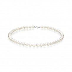 Luxury White Japanese Akoya Pearl Necklace with 18ct Gold-ANVAR00190020-2