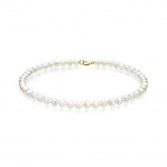 Luxury White Japanese Akoya Pearl Necklace with 18ct Gold-ANVAR00190020-3