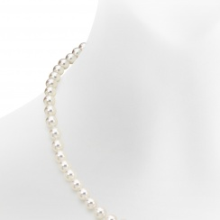 Single Strand White Akoya Pearl Necklace with 18ct Gold Clasp-ANVAR02630264-4