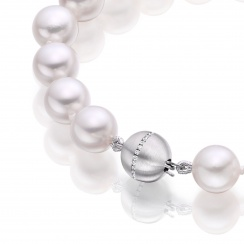Serenade Diamond and Pearl Necklace in White Gold-3