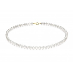 Single Strand White Akoya Pearl Necklace with 18ct Gold Clasp-ANVAR02630264-3