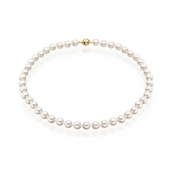 Serenade Diamond and Pearl Necklace in Yellow Gold-4