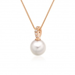 Mythologie Akoya Pearl and Diamond Pendant in Rose Gold-APVARRG1079-1