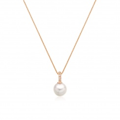 Mythologie Akoya Pearl and Diamond Pendant in Rose Gold-APVARRG1079-3