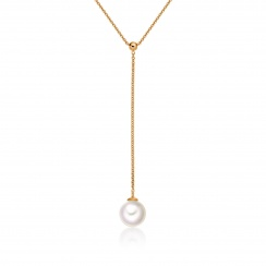 Akoya Pearl Lariat in Rose Gold-APWRRG1161-1