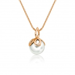 Entwined Pearl Pendant with Rose Gold Chain-PEVARRG1184-1