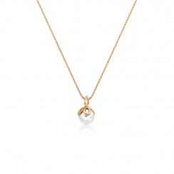 Entwined Pearl Pendant with Rose Gold Chain-PEVARRG1184-2