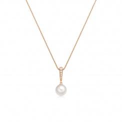 Mythologie Dewdrop Akoya Pearl Pendant in Rose Gold-APVARRG1236-2