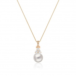Astral Cluster Akoya Pearl Pendant in Rose Gold-APWRRG1333-2