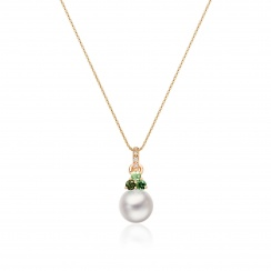 Astral Aurora Akoya Pearl Pendant in Rose Gold-APWRRG1334-2